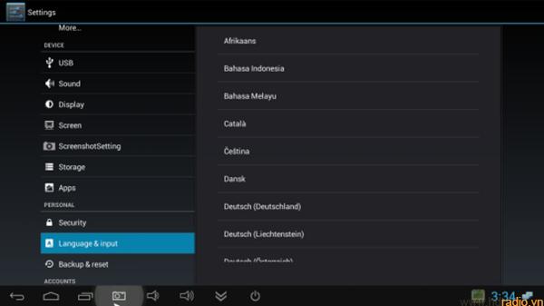 Android Box Minix Neo X5 Mini-cài đặt ngôn ngữ