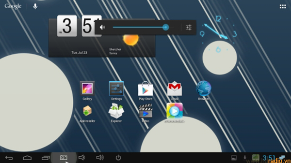 Android Box Minix Neo X5 Mini-giao diện