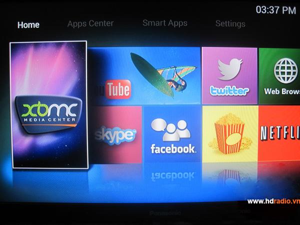 Android TV box VMX- V8H eMMC S802H Quad Core-giao diện thiết kế chuyên về XBMC