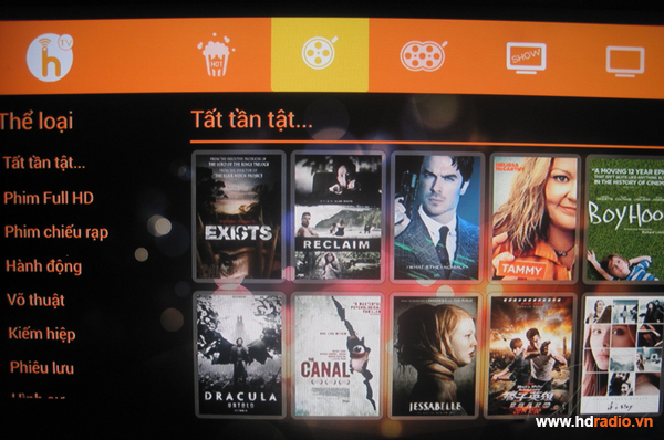 Android TV box VMX- V8H eMMC S802H Quad Core-xem phim hd Online với HayhayTV và HDViet