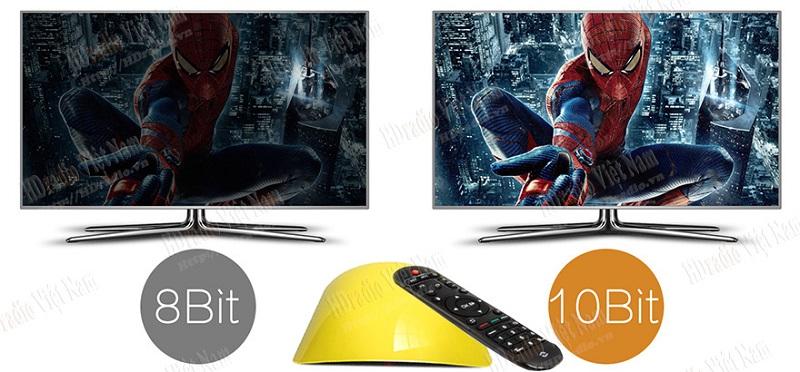 Android tv box Zidoo X1 II hỗ trợ 10bit
