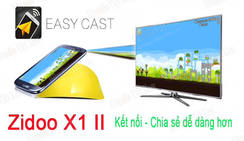 Android tv box Zidoo X1 II hỗ trợ easy cast