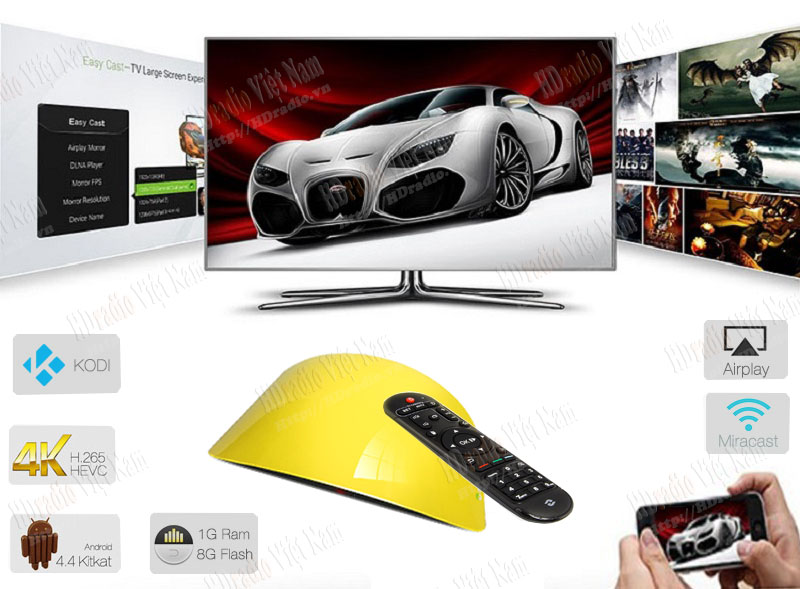 Android tv box Zidoo X1 II hỗ trợ CH Play