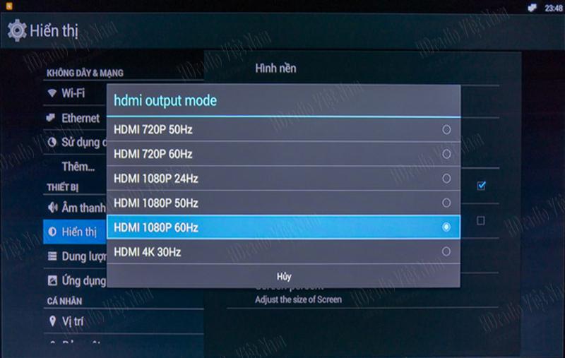 Android TV Box Zidoo x1 hỗ trợ nhiều chất lượng