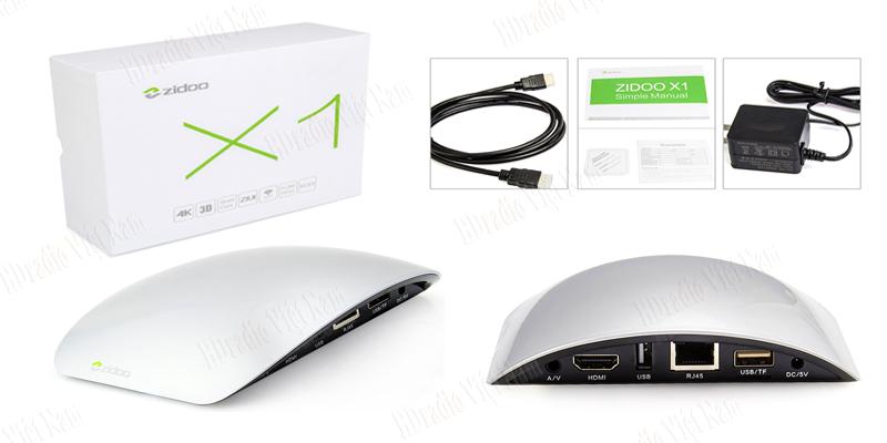 bộ sản phẩm Android TV Box Zidoo x1