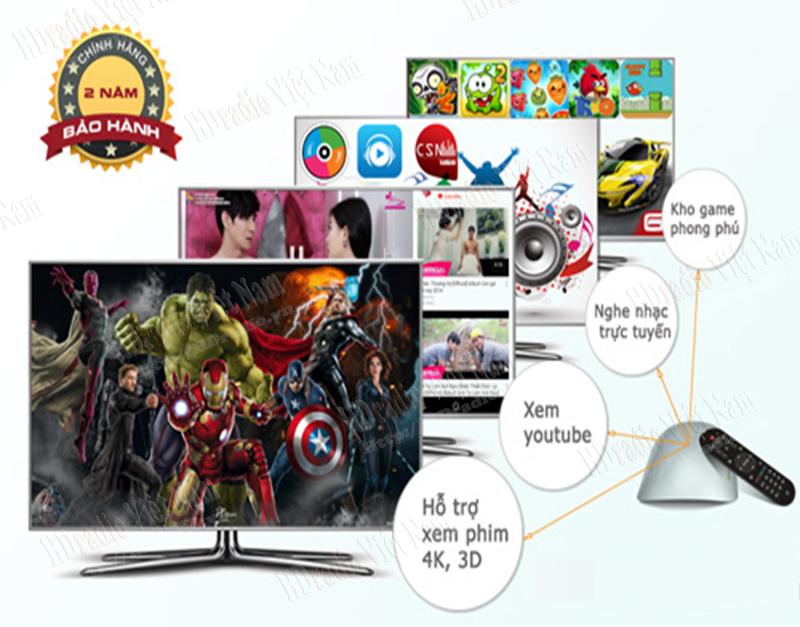 Android TV Box Zidoo x1 hỗ trợ xem phim,chơi game