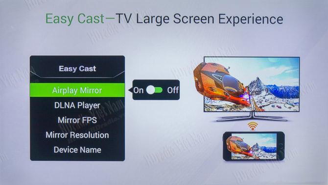 Chia sẻ dữ liệu từ Smartphone chạy OS Android lên X1 thông qua Easy Cast
