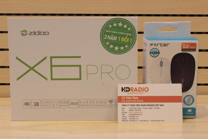 [Combo] Android Box Zidoo X6 pro + Chuột quang không dây forter