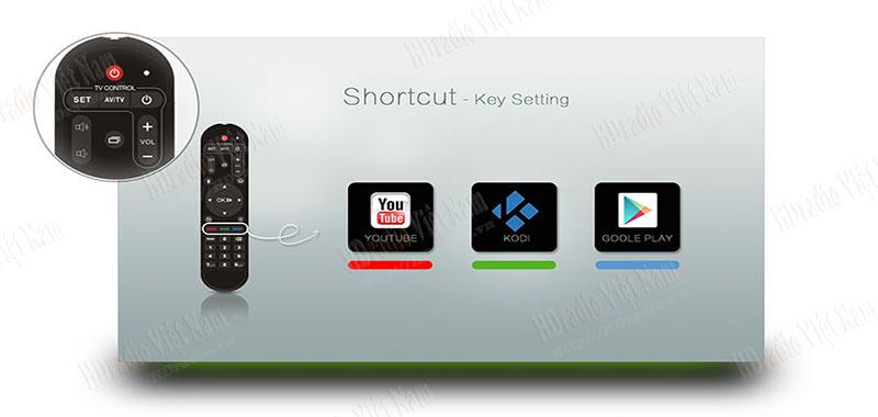 Điều khiển từ xa với Remote thông minh.