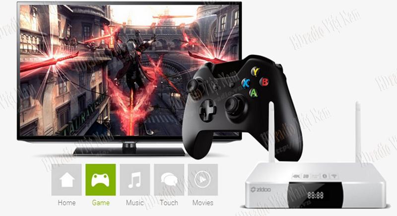Android TV Box Zidoo x9 hỗ trợ chơi game