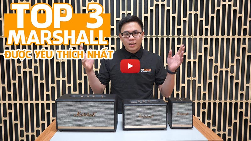 Video giới thiệu top 3 loa bluetooth Marshall được yêu thích nhất