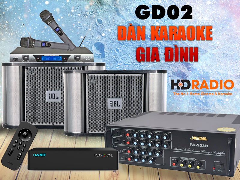 Bộ dàn loa karaoke gia đình HD 02