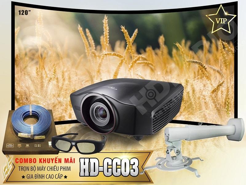 Trọn bộ máy chiếu phim gia đình cao cấp HD-CC03