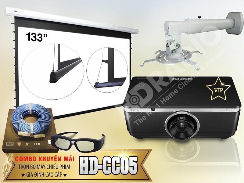 Trọn bộ máy chiếu phim gia đình cao cấp HD-CC05
