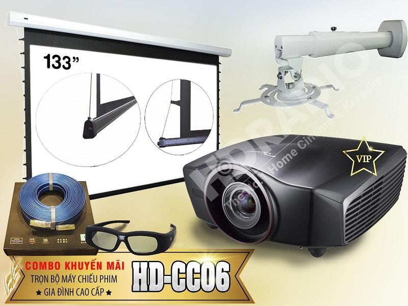 Trọn bộ máy chiếu phim gia đình cao cấp HD-CC06