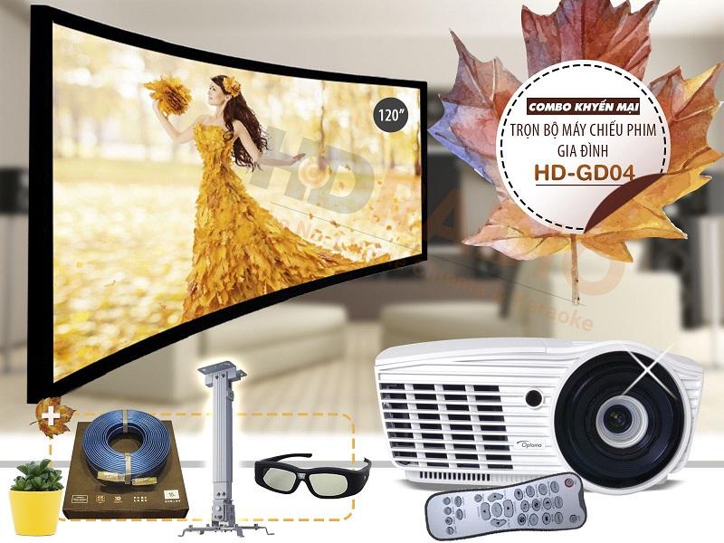 Trọn bộ máy chiếu phim gia đình HD-GD04