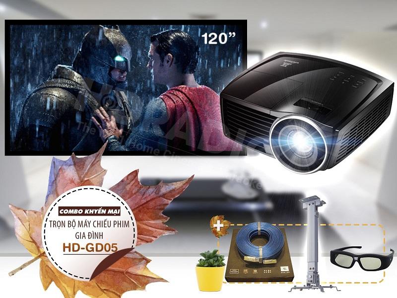 Trọn bộ máy chiếu phim gia đình HD-GD05
