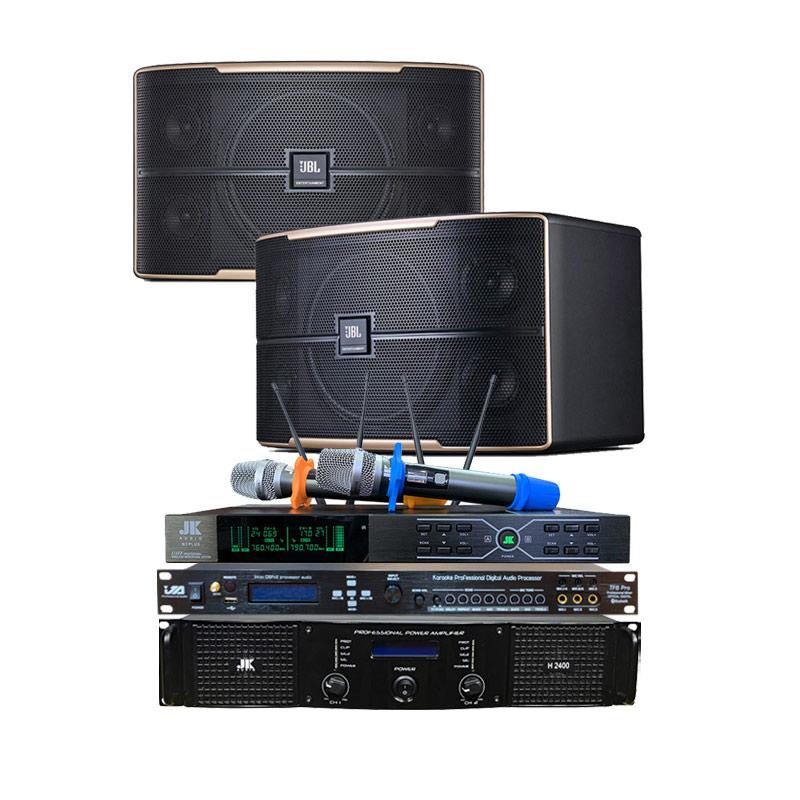 Dàn Karaoke gia đình GD08 ( JBL Pasion 10 + JK H2400 + Vang cơ JA TF6 Pro + Micro JK B3 Plus )