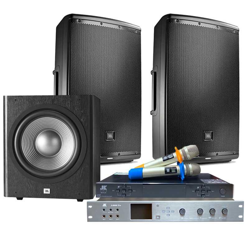 Dàn Karaoke JBL Cao Cấp GD30 ( JBL Eon 612 + Vang X6000 + Sub JBL 260P + Micro JK B5 PLus )