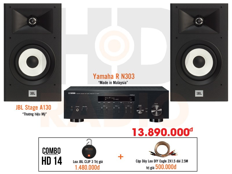 Dàn âm thanh nghe nhạc giá tốt nhất  HD14 tại hdradio 1