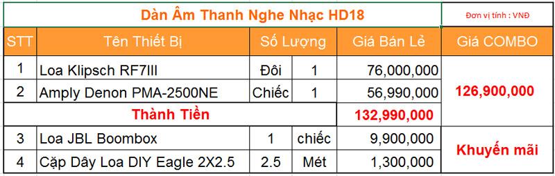 Dàn âm thanh nghe nhạc HD18 giá tốt nhất tại hdradio 2