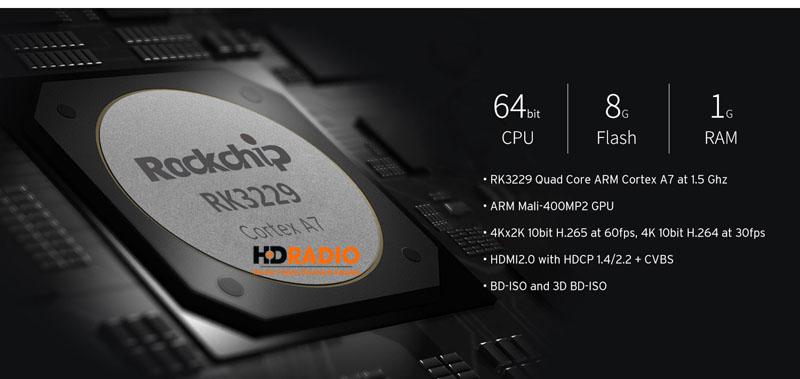 Himedia H1 - sử dụng rockchip Rk3229