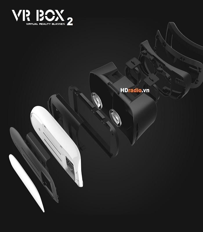 kính thực tế ảo VR Box 2 có kết cấu nhiều lớp tỉ mỉ