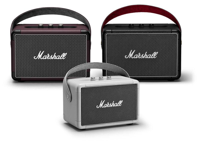 3 màu sắc loa marshall kilburn 2 đen, trăng và đỏ mận