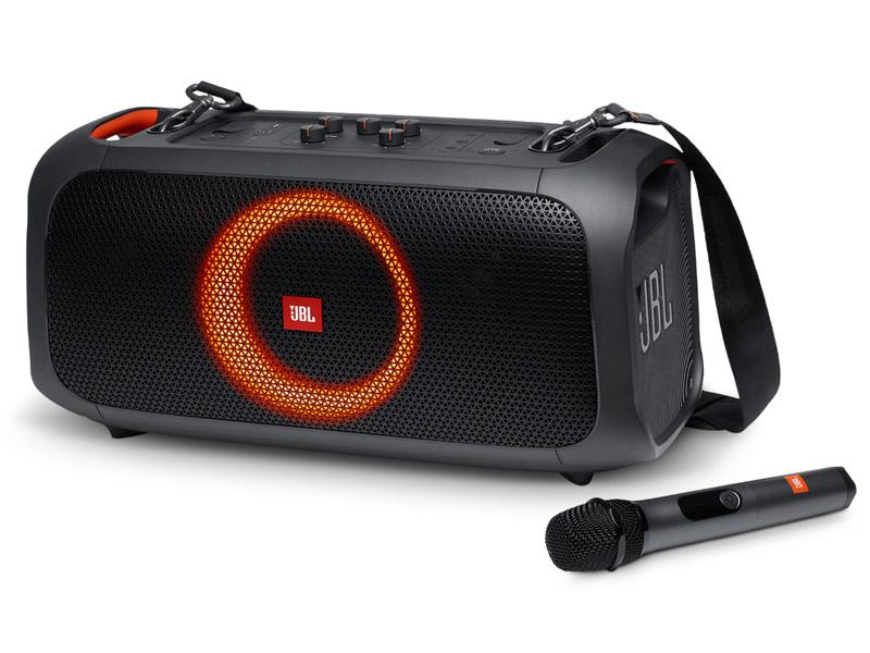 Loa bluetooth JBL Partybox On The Go hát karaoke cực hay với môt micro JBL đi kèm