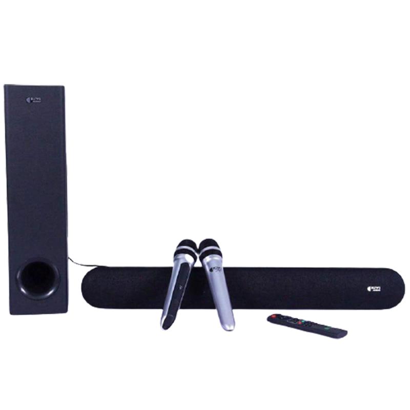 Loa soundbar Kiwi HK01, kèm 2 micro, Hát karaoke tốt