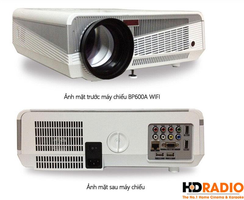 Mặt trước và sau máy chiếu BullPro BP600A