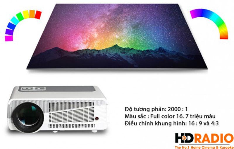 Máy chiếu BullPro BP600A sử dụng công nghệ LED cho tuổi thọ bóng đèn lên tới 20.000 giờ