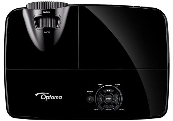 Mặt trên máy chiếu Optoma X300  gồm các phim điều khiển