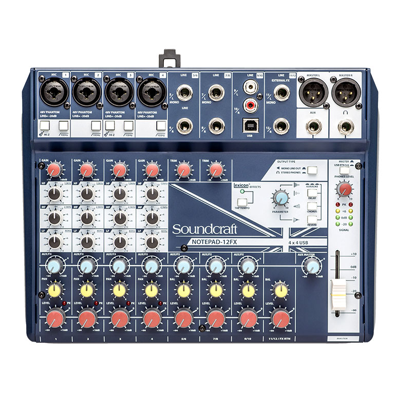 Mixer Soundcraft Notepad 12FX