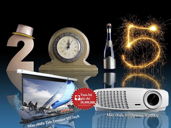 Combo máy chiếu BENQ W1070 + màn chiếu Tab-Tension 133 inch