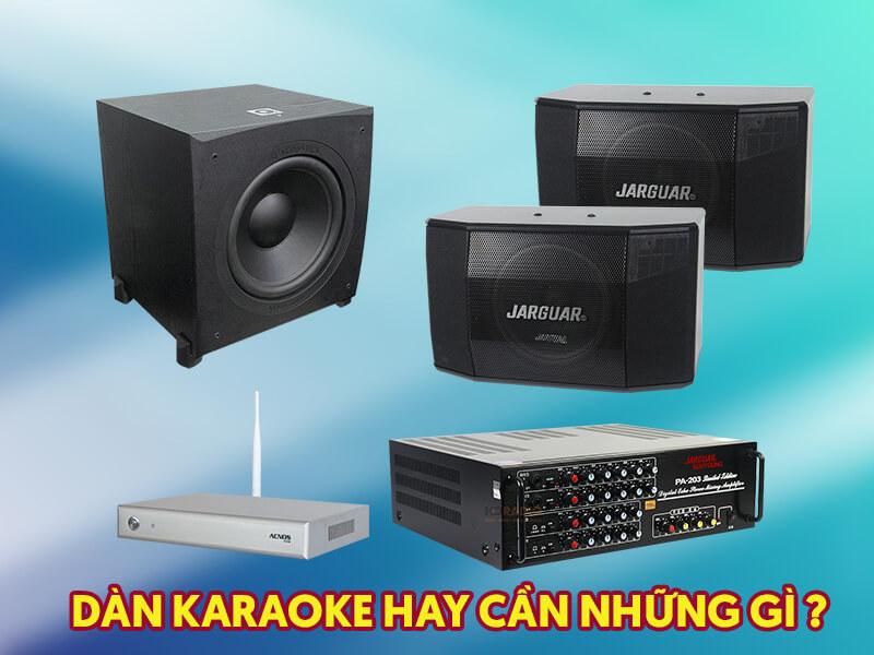 Dàn hát karaoke gia đình gồm những thiết bị gì