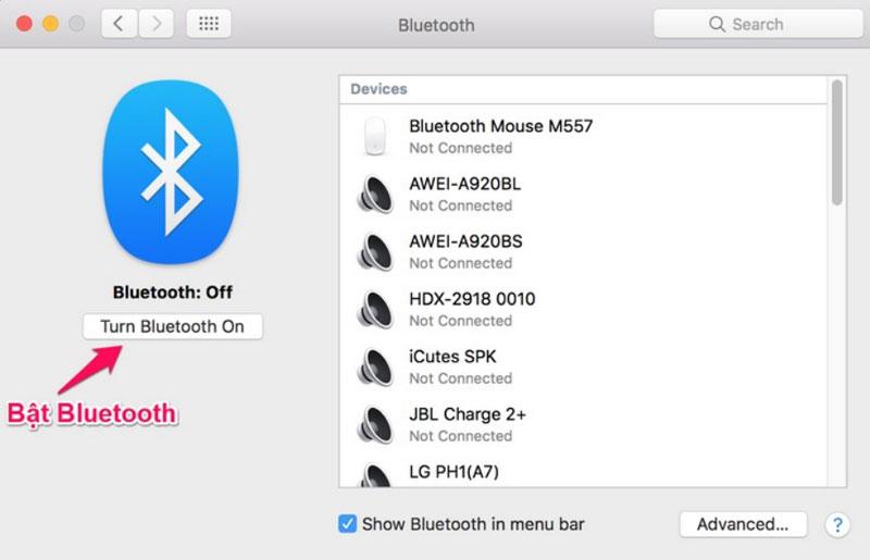 cách kết nối bluetooth laptop với loa