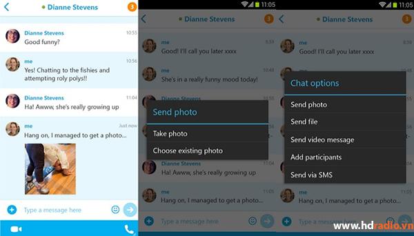 Cập nhật Skype 5.2 thêm tính năng chia sẻ ảnh Offline cho Android TV Box
