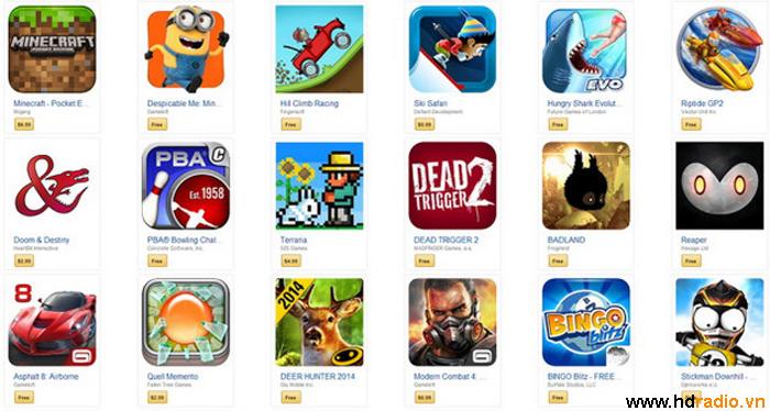 Danh sách các game có thể chơi trên Android Box Cloudnetgo CR18 Octacore
