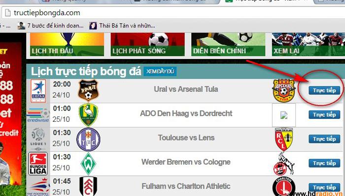 Hướng dẫn xem bóng đá trên Android TV Box