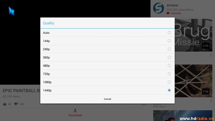 Hướng dẫn cách xem Youtube 1080 trên Android tv box
