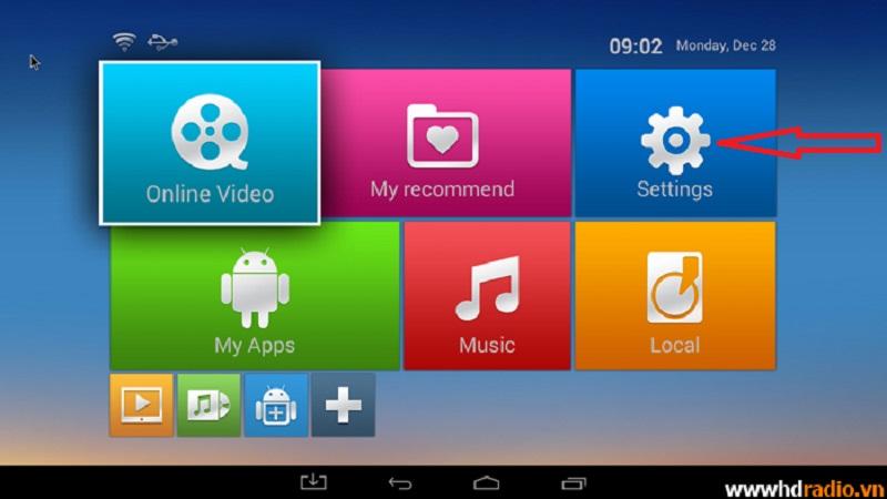 Hướng dẫn kết nối mạng cho Android Eny Box Tivi M8S