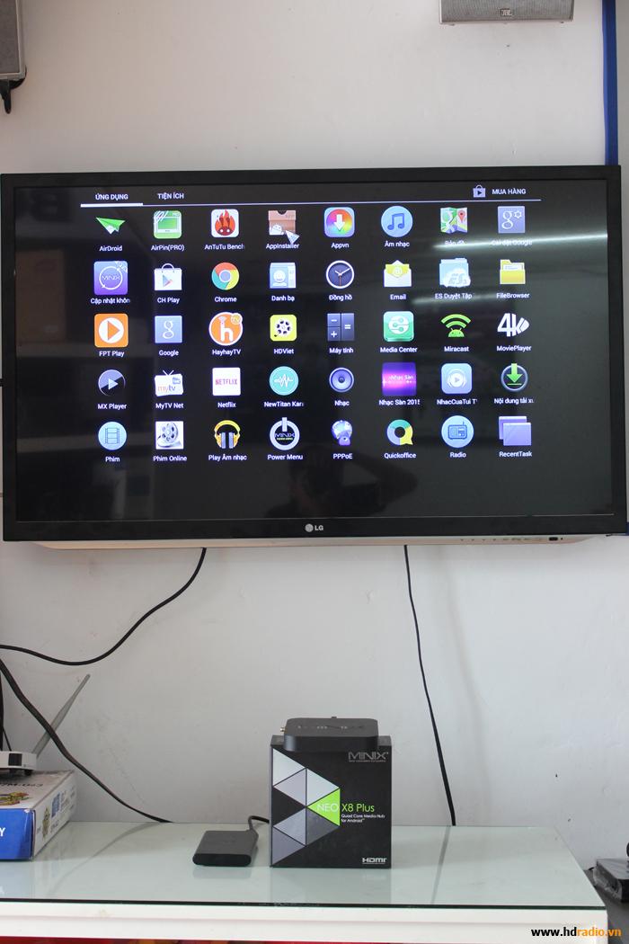 Hướng dẫn người dùng dowload và cài đặt ứng dụng cho Android Box hãng Minix