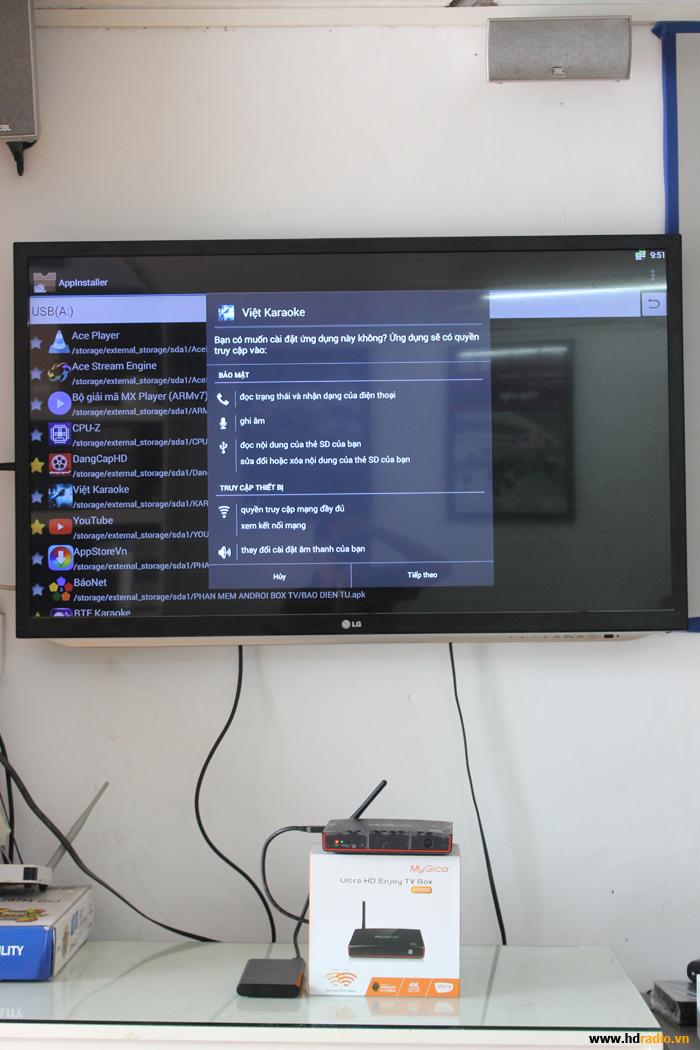 Hướng dẫn người dùng dowload và cài đặt ứng dụng cho Android Box hãng Mygica