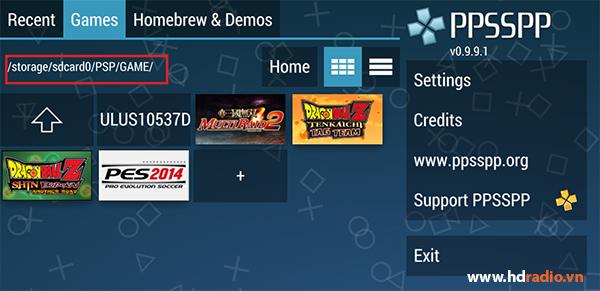 Hướng dẫn cách chơi game giả lập PSP trên Android Box
