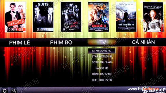 Tổng hợp ứng dụng xem phim HD,Full HD hay trên Android Box