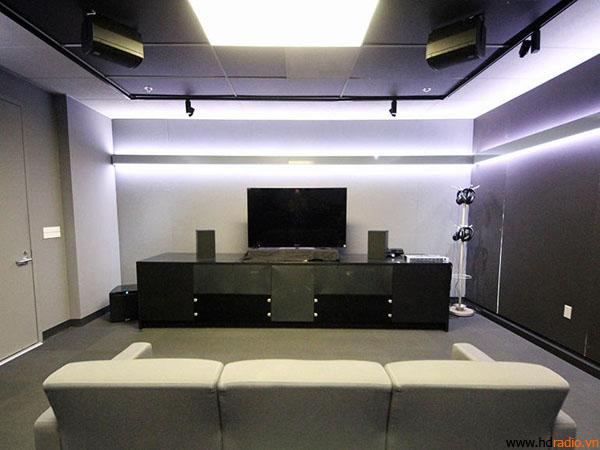 Một không gian demo tái hiện lại phòng khách của người dùng