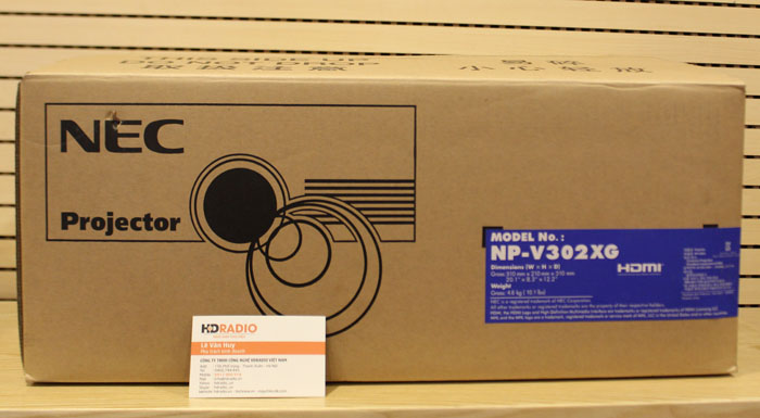 Vỏ hộp phía ngoàimáy chiếu NEC NP-V302XG