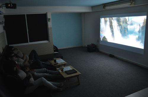 Phòng chiếu phim mini 3D đang là mốt ở Sài Gòn